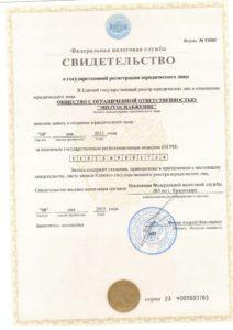 Энергоснабжение свидетельство о государственной регистрации